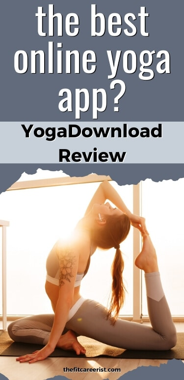 YogaDownload review. Best Online Yoga App- Girl doing yoga at home